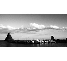 The port of Acitrezza old style Photographic Print