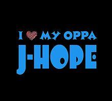 I HEART MY OPPA J-HOPE  - BLACK  by Kpop Love