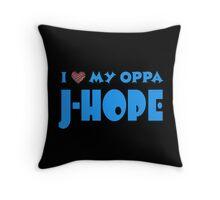I HEART MY OPPA J-HOPE  - BLACK  Throw Pillow