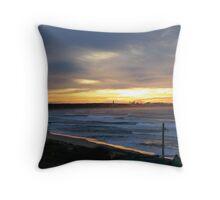 Port Hacking Sunrise Throw Pillow