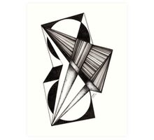 60: Black and White Abstract Lines Art Print