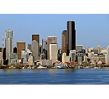 Cityscape of Downtown Seattle Photographic Print