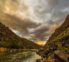 Taos Sunset by IOBurque