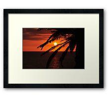Red Sky Sunset Framed Print