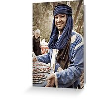 Mohammed at the Market Greeting Card
