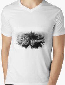 Flower #2 in Black and White. Mens V-Neck T-Shirt
