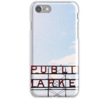 public market. iPhone Case/Skin