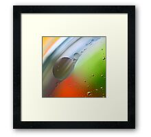 Abstract Oil in water. Framed Print