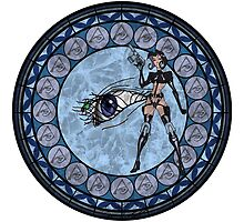 Stained Glass Aeon Flux Drawing by trevorao