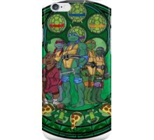 Stained Glass Teenage Mutant Ninja Turtles Drawing iPhone Case/Skin