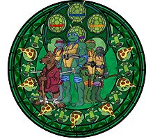 Stained Glass Teenage Mutant Ninja Turtles Drawing by trevorao