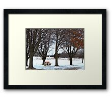 Have a seat. Framed Print