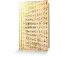 beige sunflare Greeting Card
