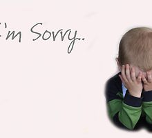 I'm Sorry - Greeting Card by Susan Brown