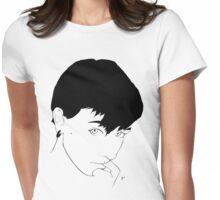 Minimalistic Meg Womens Fitted T-Shirt