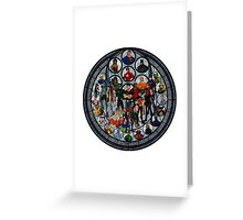 Stained Glass Justice Drawing Greeting Card