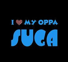 I HEART MY OPPA SUGA  - BLACK  by Kpop Love