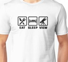 Eat sleep Telescope  Unisex T-Shirt