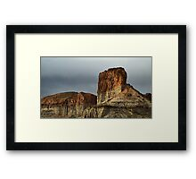 Red Rock at Green River Framed Print