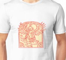 Mexican Eagle Devouring Snake Etching Unisex T-Shirt