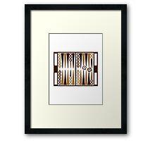 Backgammon board Framed Print
