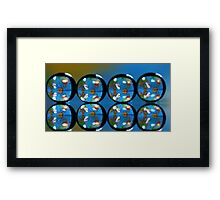 Abstract reflections. Framed Print