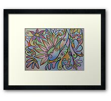 Pastel Petals Framed Print