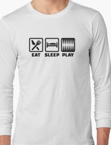 Eat sleep play Backgammon Long Sleeve T-Shirt
