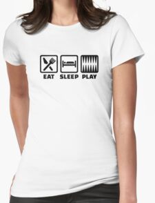 Eat sleep play Backgammon Womens Fitted T-Shirt