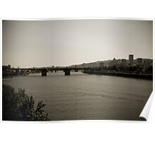 Willamette River + Downtown Portland Poster