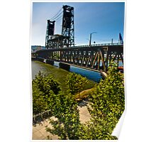 Steel Bridge, Portland, Oregon Poster