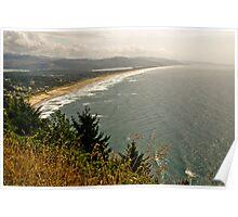 Overlooking Manzanita, Oregon Poster