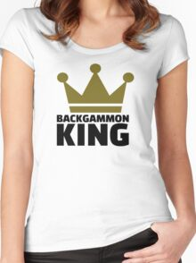 Backgammon King Women's Fitted Scoop T-Shirt