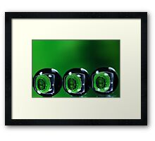 Balls with refraction. Framed Print