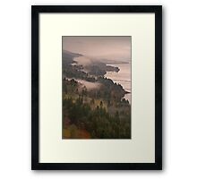 Heavy Mist in the Gorge Framed Print