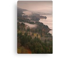 Heavy Mist in the Gorge Canvas Print