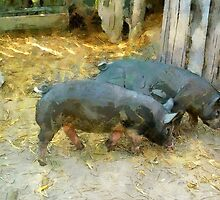 Two Little Pigs by ClaireBull