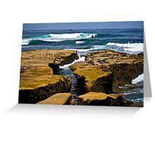 La Jolla Shoreline Greeting Card