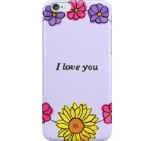 Floral Love iPhone Case/Skin