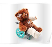 Bear in a wheelchair Poster