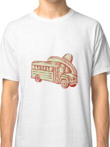 Sombrero School Bus Etching Classic T-Shirt