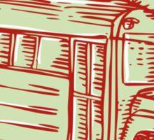 Sombrero School Bus Etching Sticker