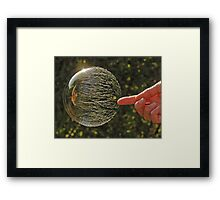 Bubbles don't pop, they RIP! Framed Print