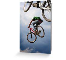 Airborne bikes Greeting Card