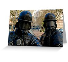 Seattle Fire Department Statue - Downtown Seattle, Washington Greeting Card