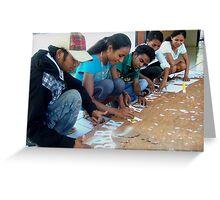 Suai exhibition preparation Greeting Card