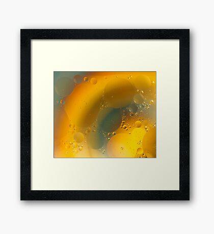 Oil in water # 5 Framed Print