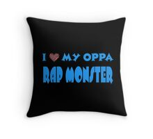 I HEART MY OPPA RAP MONSTER  - BLACK  Throw Pillow