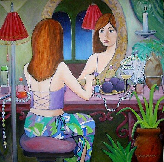 Girl in the Mirror by nancy salamouny