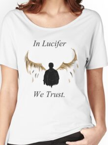 In Lucifer We Trust (Wings) Women's Relaxed Fit T-Shirt